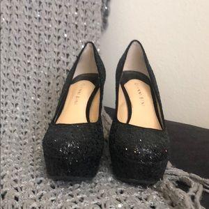 Gianni Bini Shoes - Glitter platform Black pumps Gianni Bini